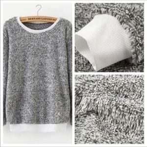 Tops - Grey fuzzy Sweatshirt!  No shedding. NWT